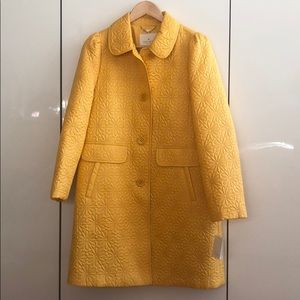 NWT Kate Spade Daisy Quilted Trenchcoat + Bag